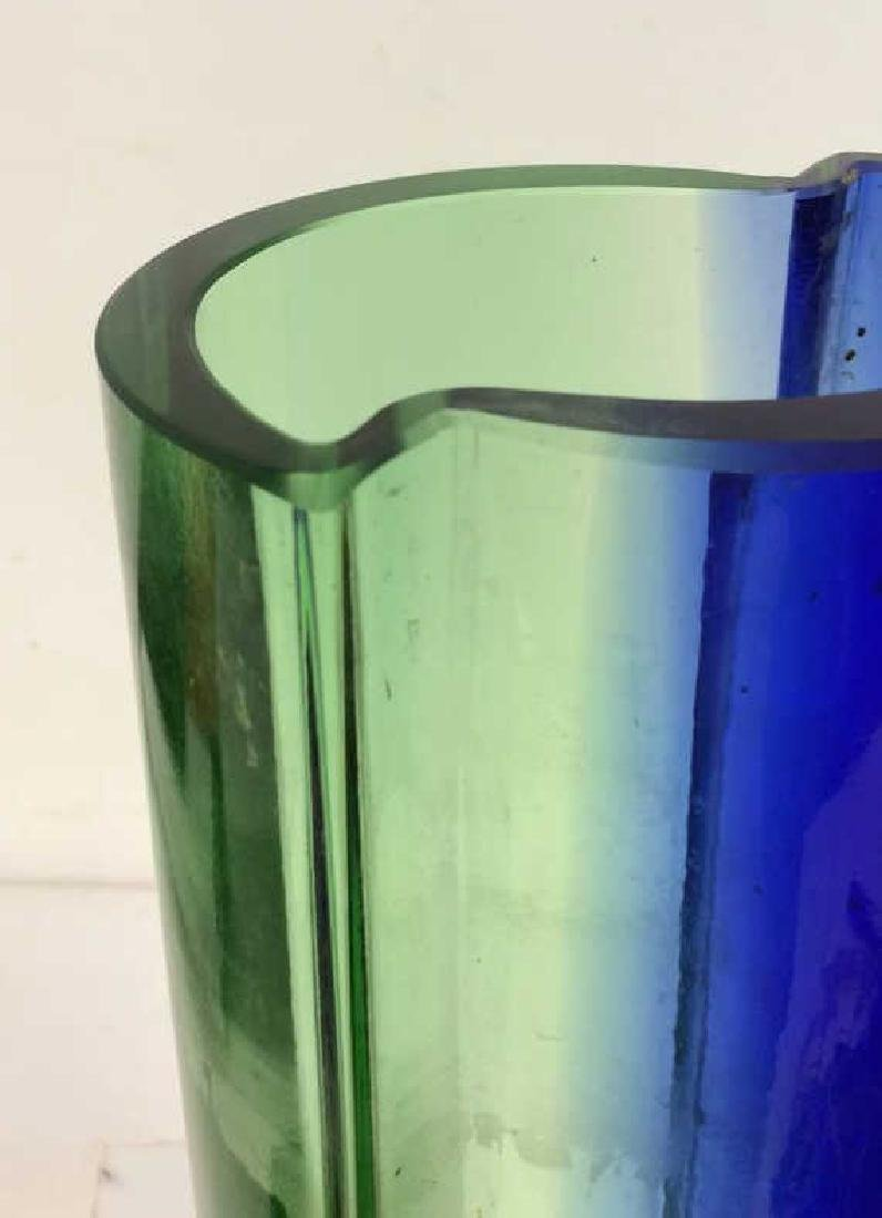 Mid Century Modern Bohemian Glass Vase - 3