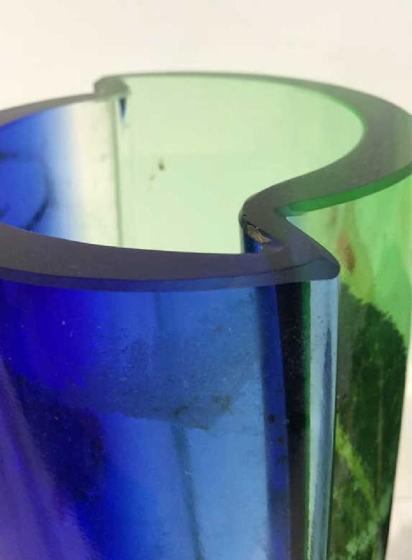 Mid Century Modern Bohemian Glass Vase - 8