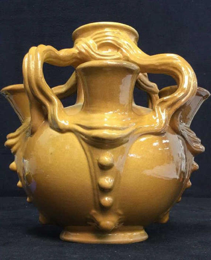 Avon Pottery Jug In Brown & Green Toned Glaze - 8
