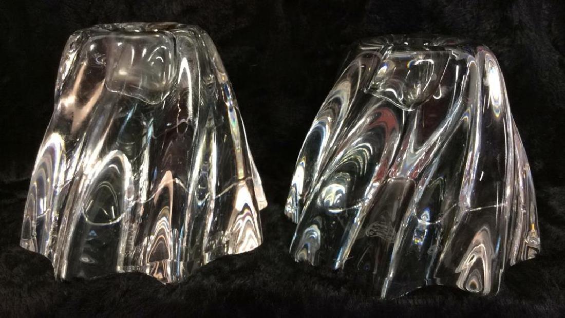 Pair BACCARAT Oreste Swirl Candleholders