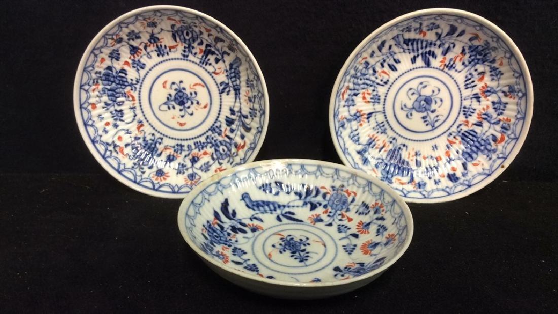 Lot 3 Vintage Meissen porcelain Plates - 10