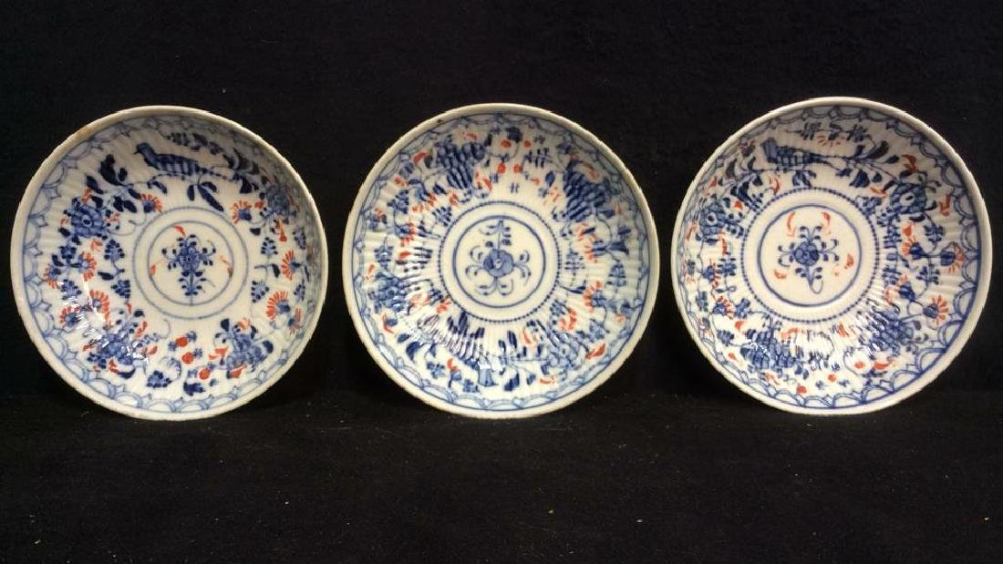 Lot 3 Vintage Meissen porcelain Plates
