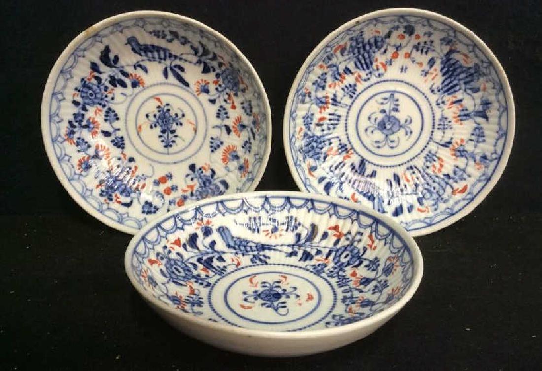 Lot 3 Vintage Meissen porcelain Plates - 2