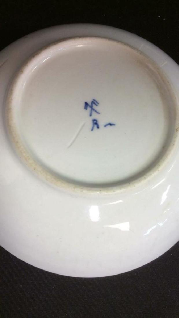 Lot 3 Vintage Meissen porcelain Plates - 6