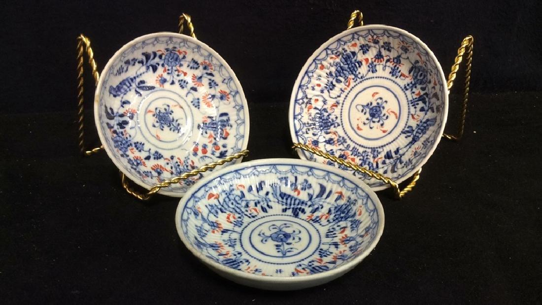 Lot 3 Vintage Meissen porcelain Plates - 8