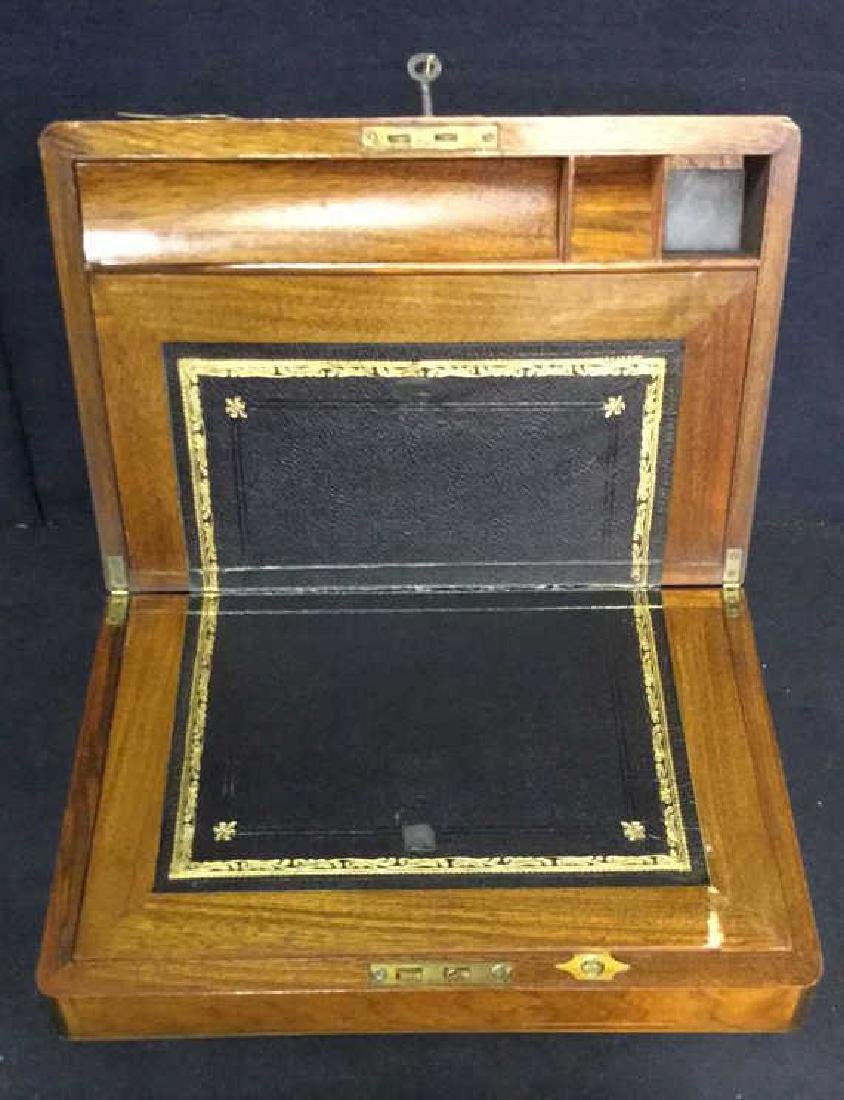 Antique Wood Brass English Lap Desk