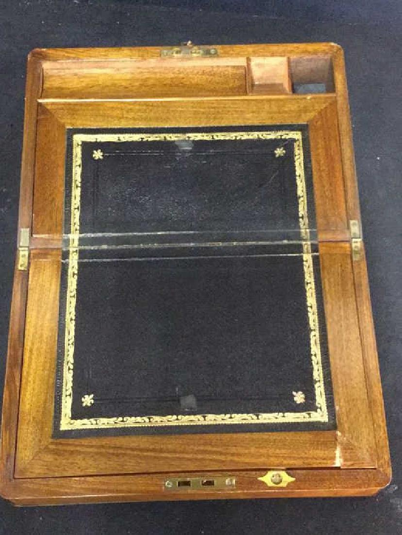 Antique Wood Brass English Lap Desk - 6