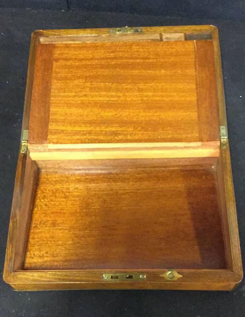 Antique Wood Brass English Lap Desk - 7