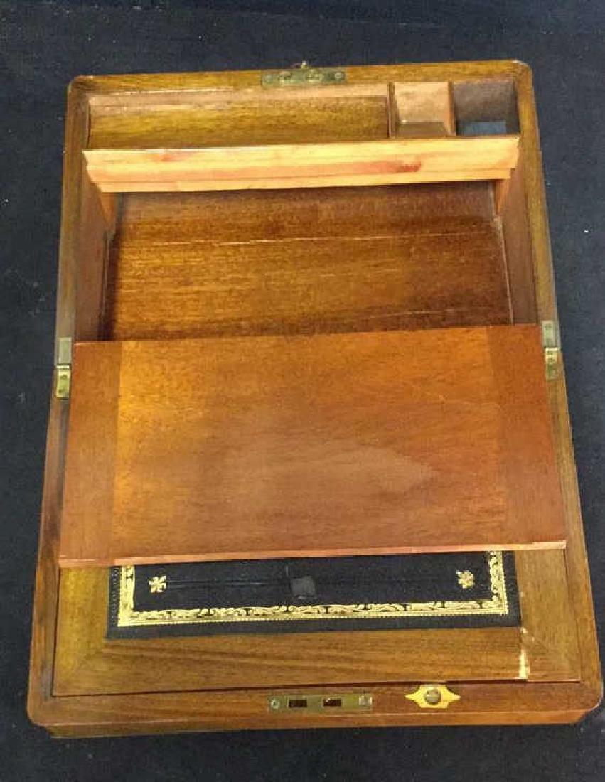 Antique Wood Brass English Lap Desk - 8