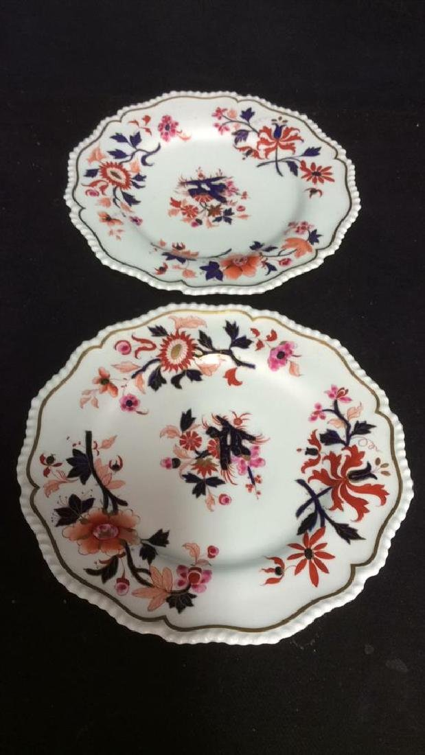 Pair FBB Floral Detailed Porcelain Plates - 10