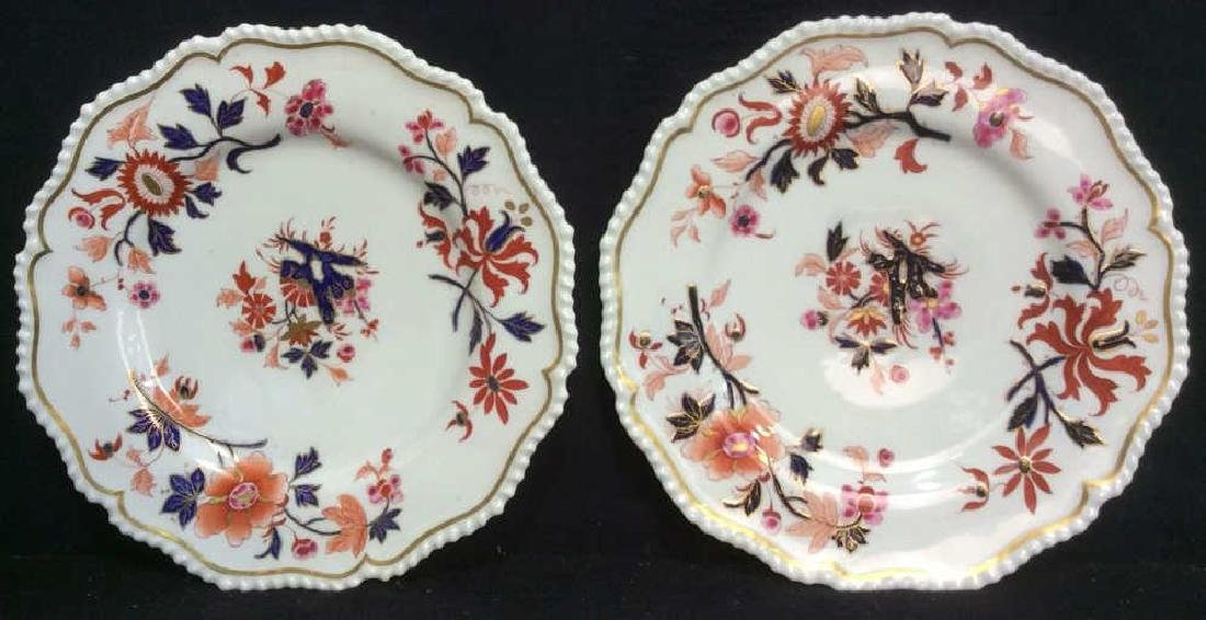 Pair FBB Floral Detailed Porcelain Plates
