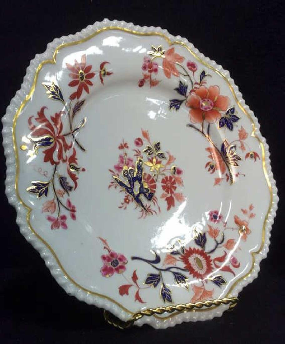 Pair FBB Floral Detailed Porcelain Plates - 3