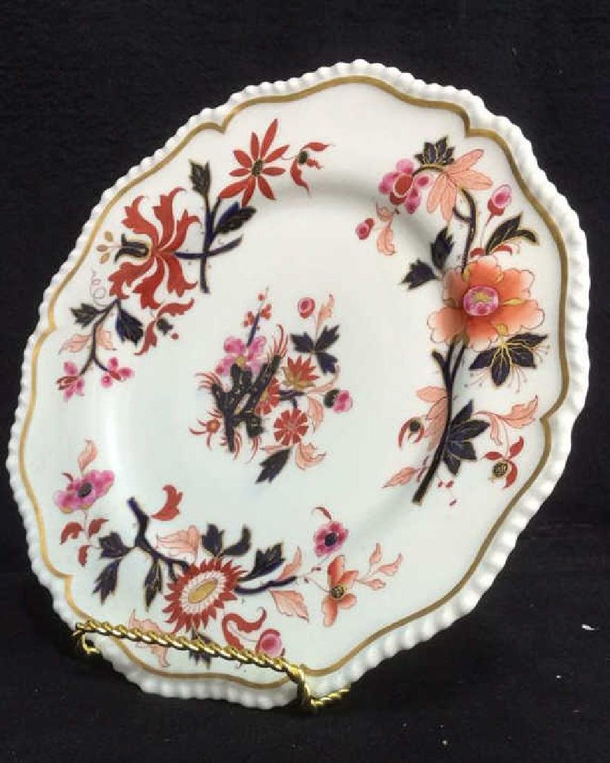 Pair FBB Floral Detailed Porcelain Plates - 4