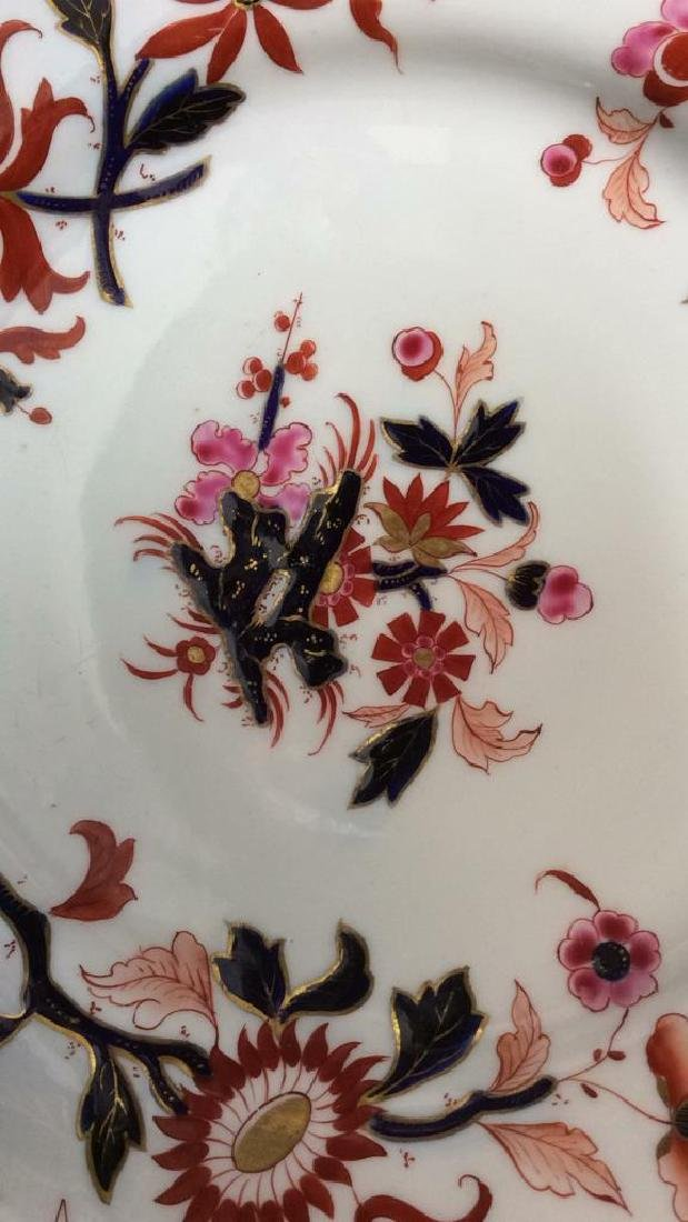 Pair FBB Floral Detailed Porcelain Plates - 5