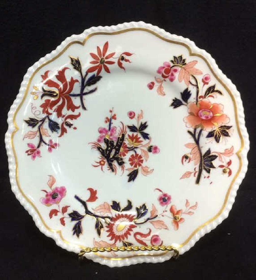 Pair FBB Floral Detailed Porcelain Plates - 6