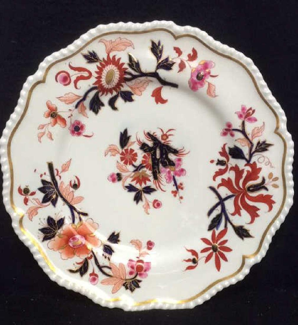Pair FBB Floral Detailed Porcelain Plates - 8