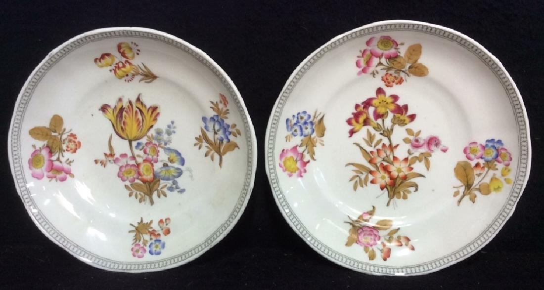 Lot 2 MINTON Floral Detailed Porcelain Plates