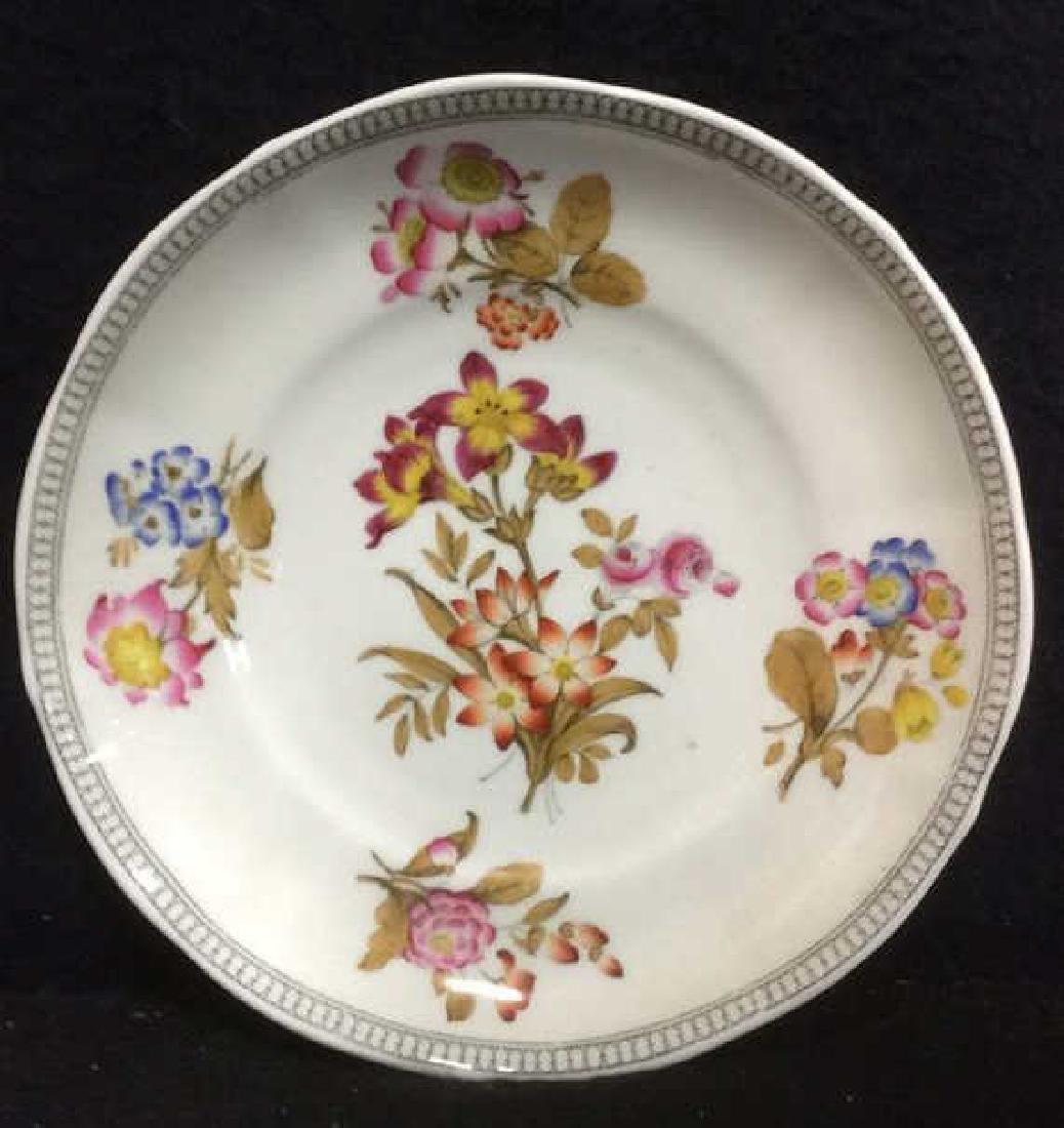 Lot 2 MINTON Floral Detailed Porcelain Plates - 3