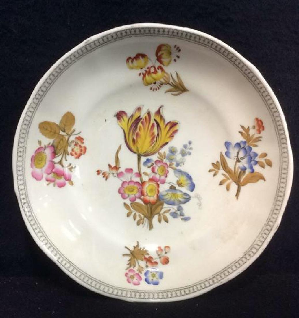 Lot 2 MINTON Floral Detailed Porcelain Plates - 4
