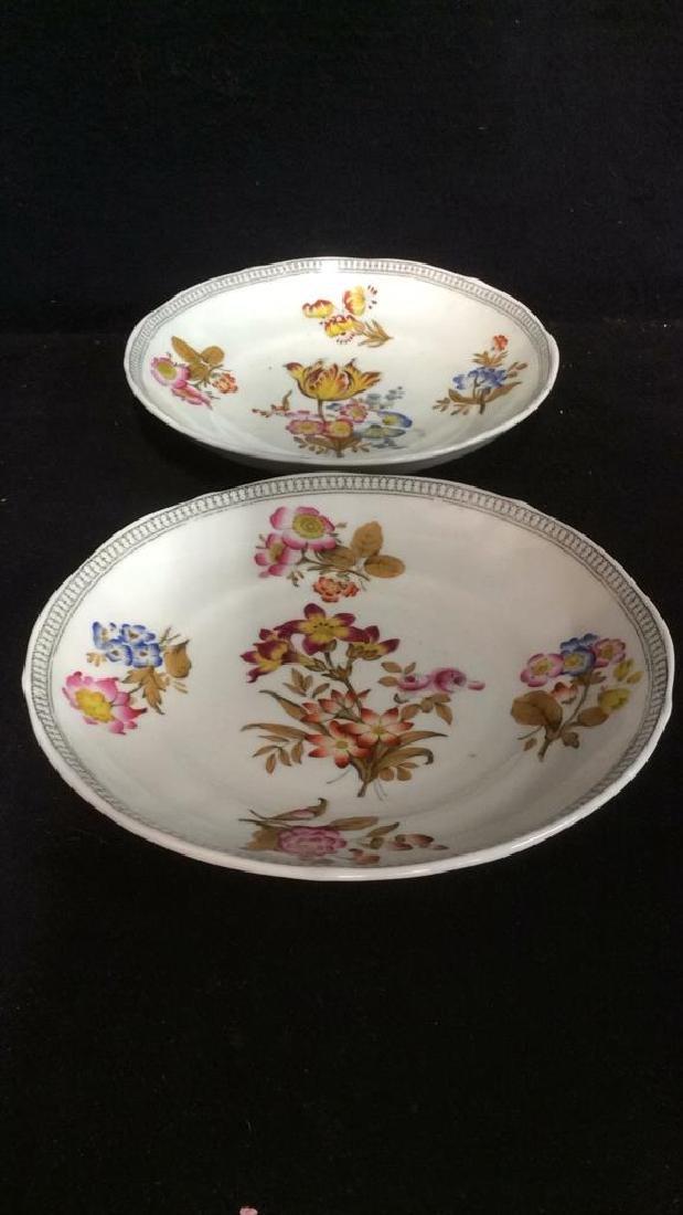 Lot 2 MINTON Floral Detailed Porcelain Plates - 5