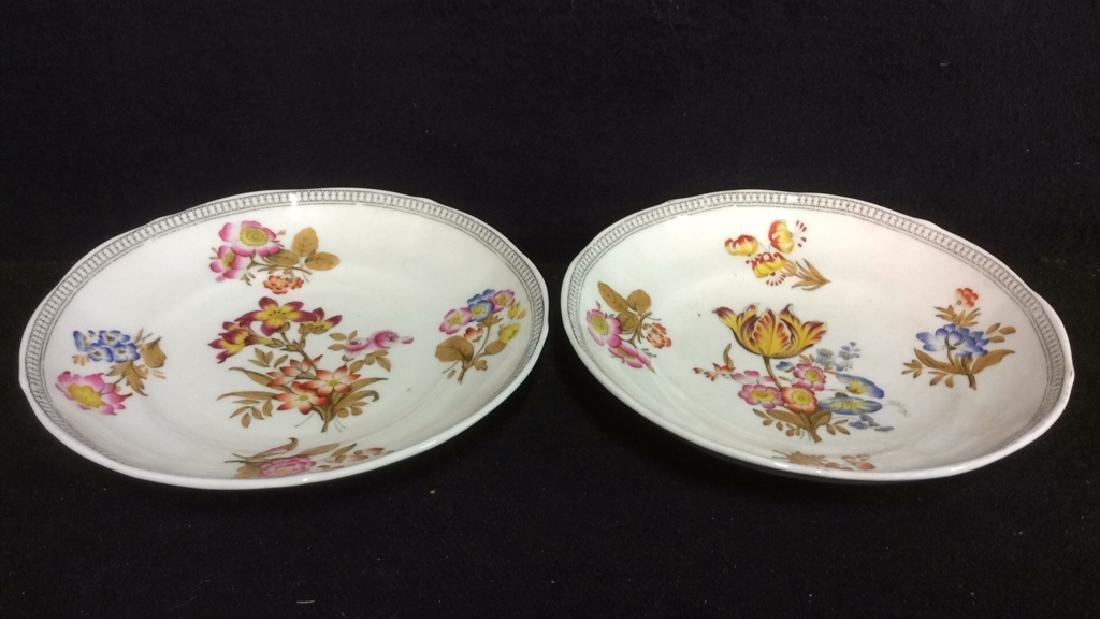 Lot 2 MINTON Floral Detailed Porcelain Plates - 6