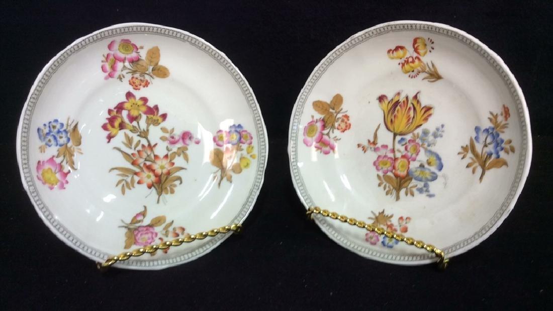 Lot 2 MINTON Floral Detailed Porcelain Plates - 7