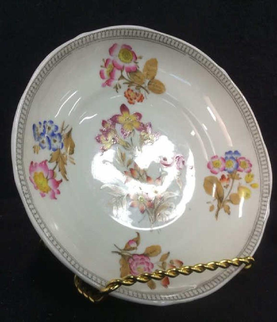 Lot 2 MINTON Floral Detailed Porcelain Plates - 8