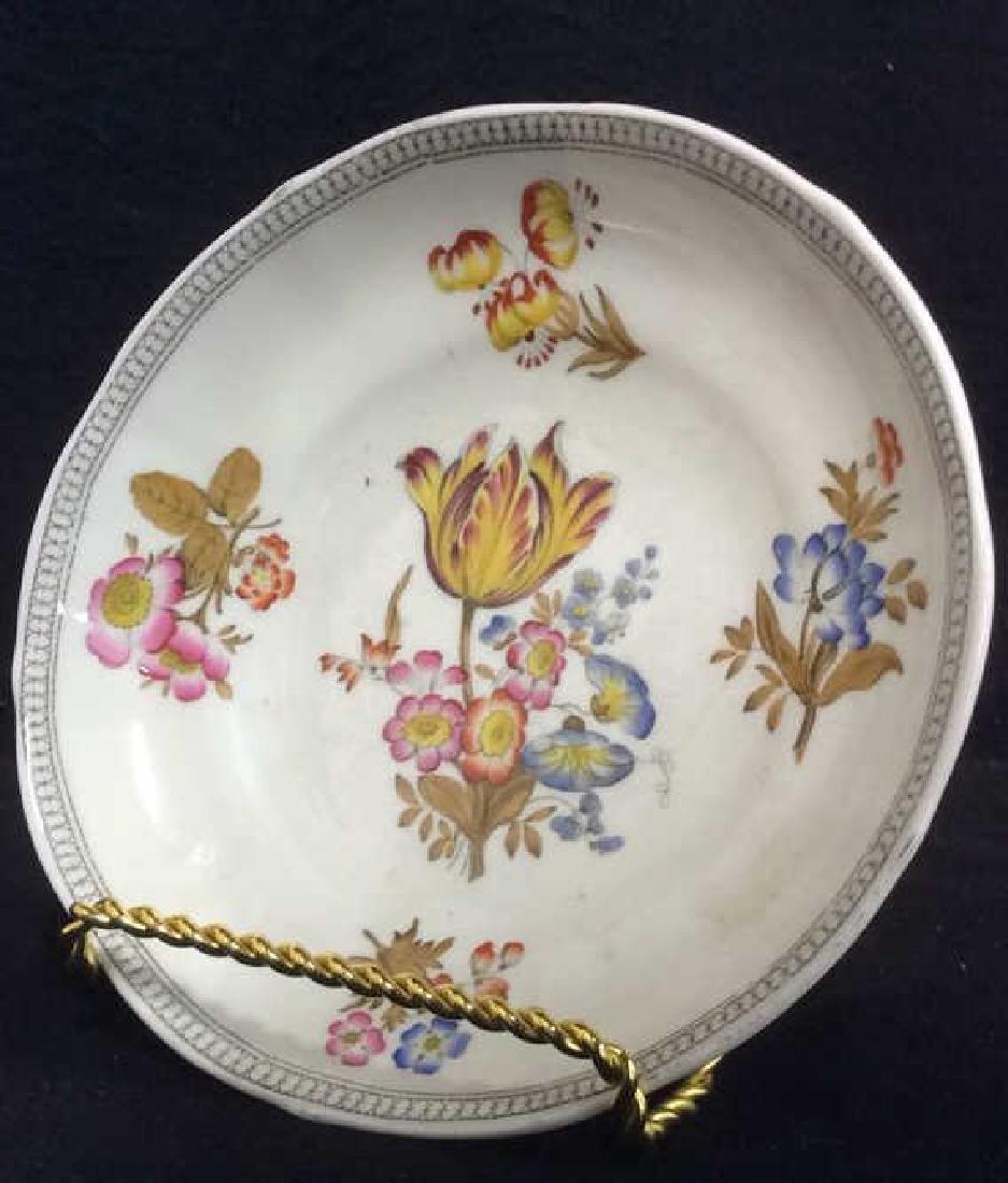 Lot 2 MINTON Floral Detailed Porcelain Plates - 9
