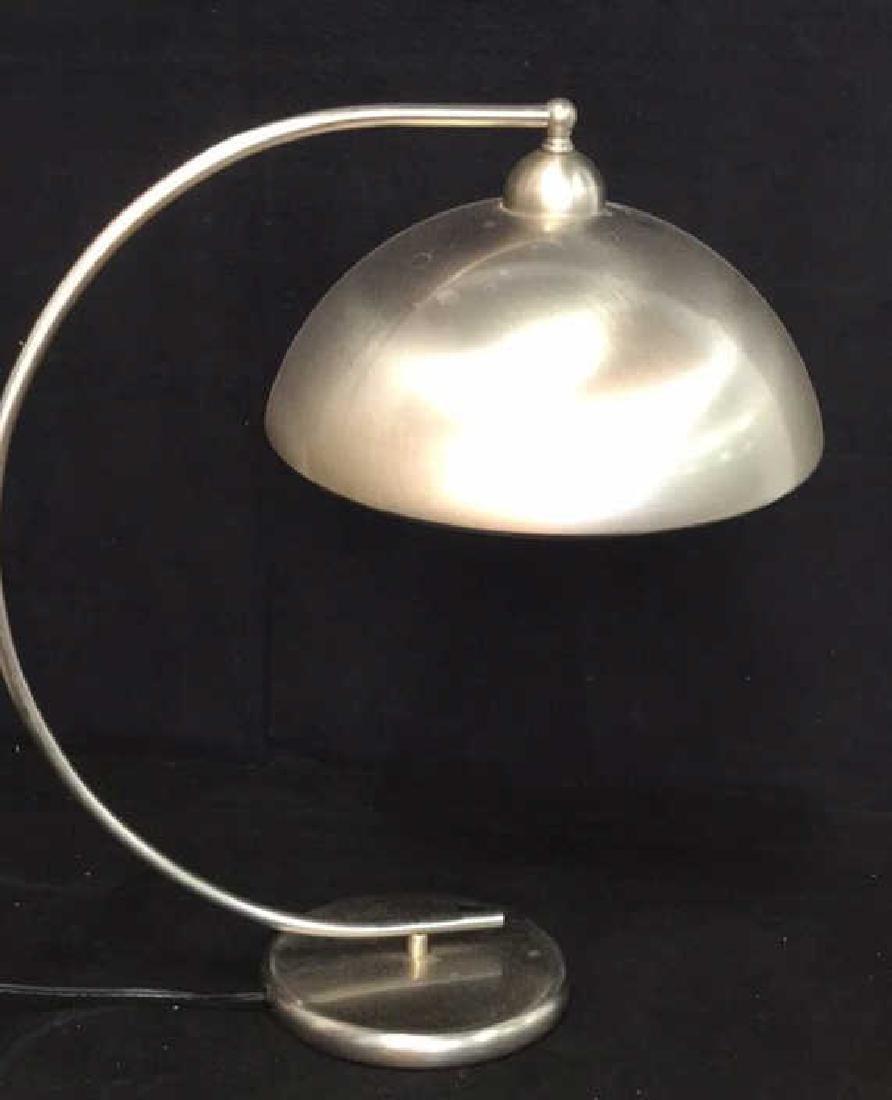 Pottery Barn Mod Brushed Chrome Lamp