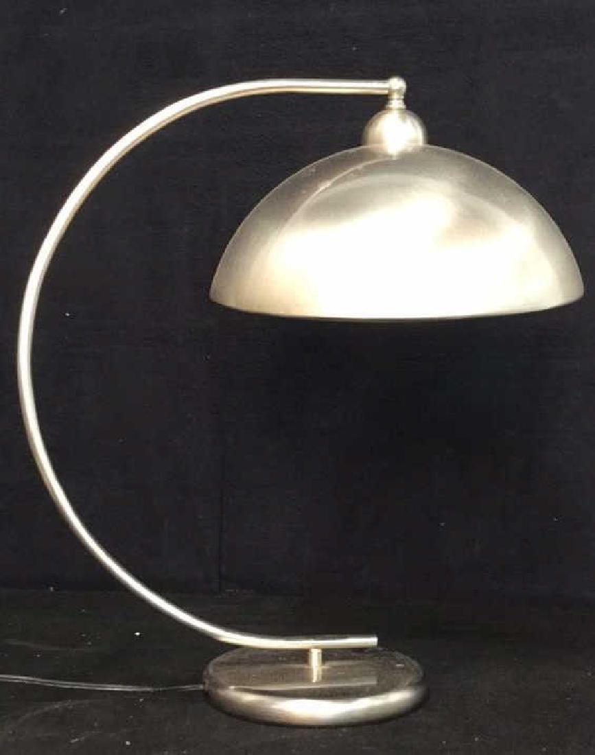 Pottery Barn Mod Brushed Chrome Lamp - 2