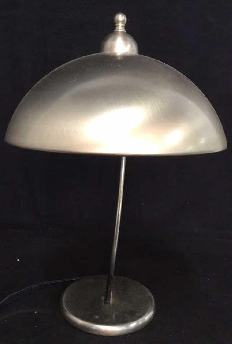 Pottery Barn Mod Brushed Chrome Lamp - 4