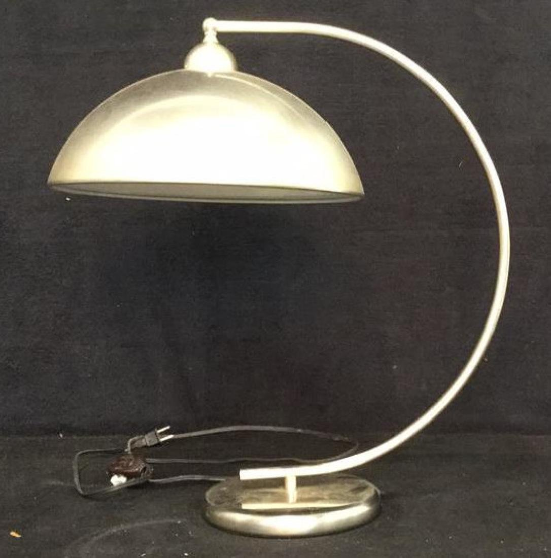 Pottery Barn Mod Brushed Chrome Lamp - 6