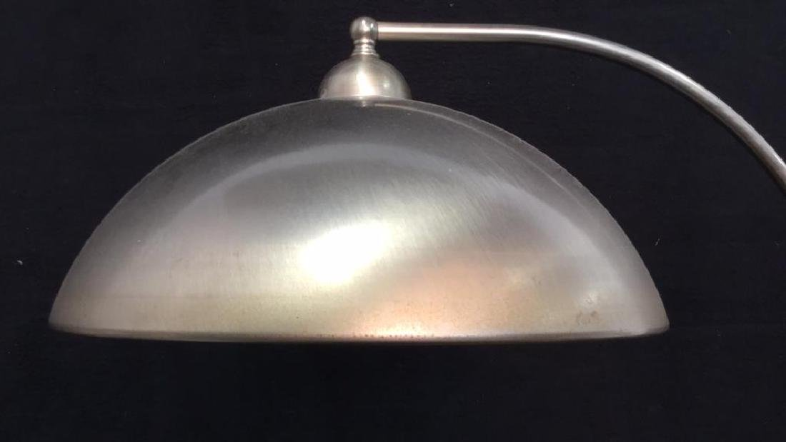 Pottery Barn Mod Brushed Chrome Lamp - 8
