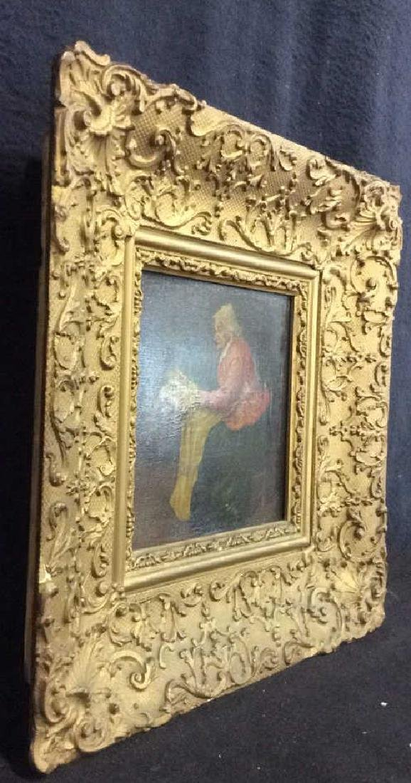 Early 19th Century Oil On Board Of Woman Reading - 8