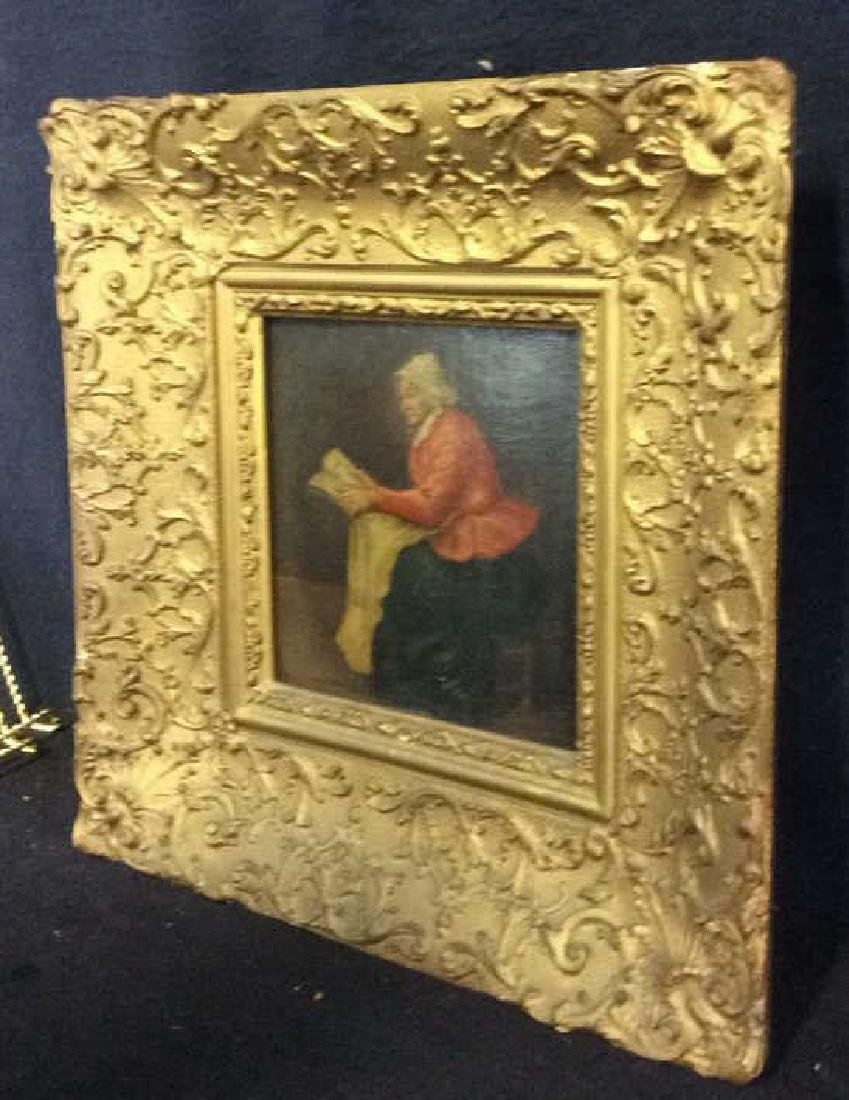 Early 19th Century Oil On Board Of Woman Reading - 9