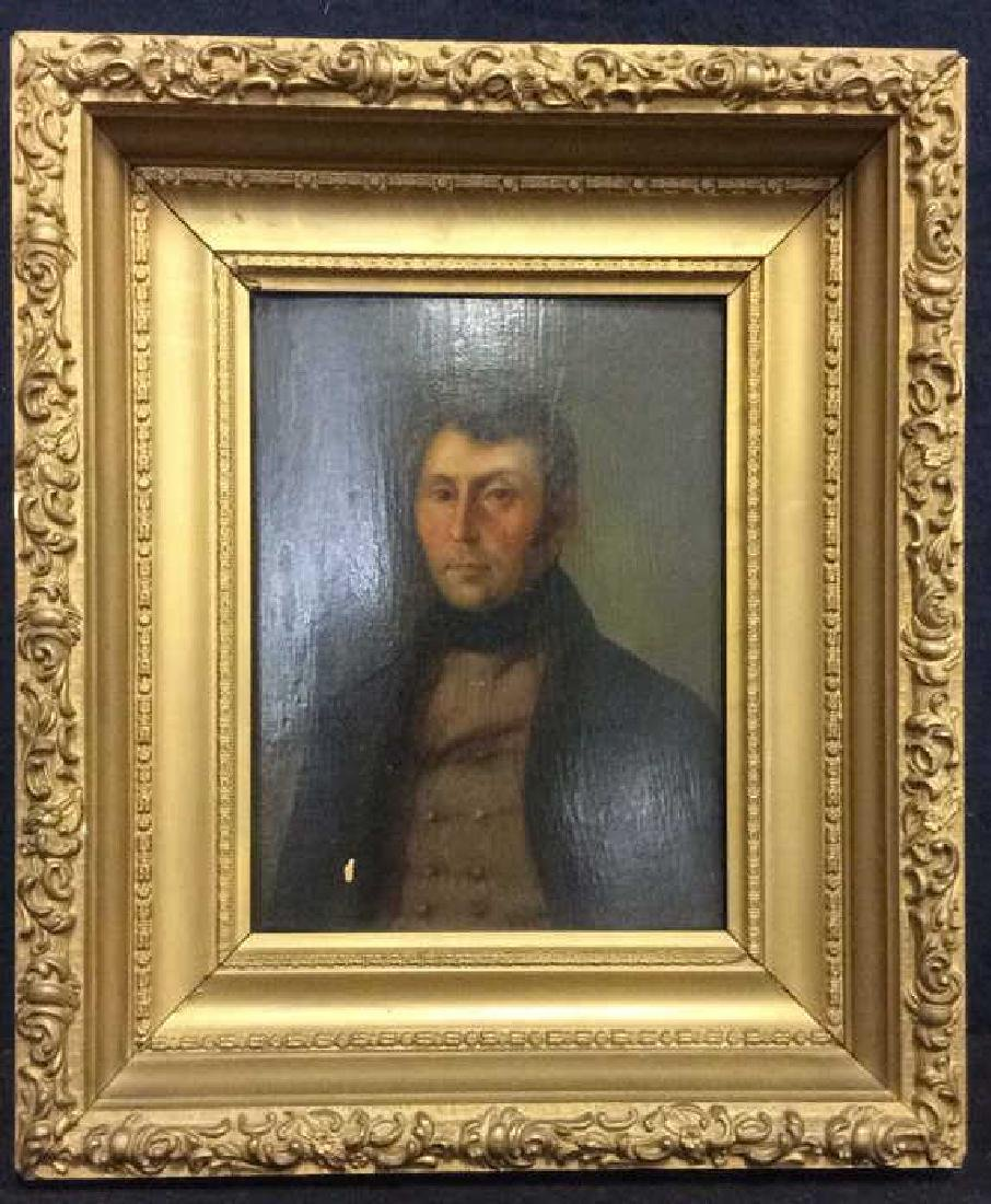 Early 19th Century Oil On Board Of Gentleman