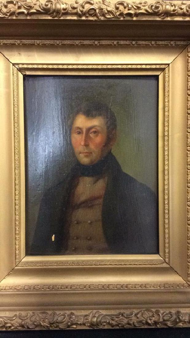Early 19th Century Oil On Board Of Gentleman - 2