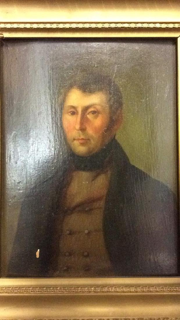 Early 19th Century Oil On Board Of Gentleman - 3