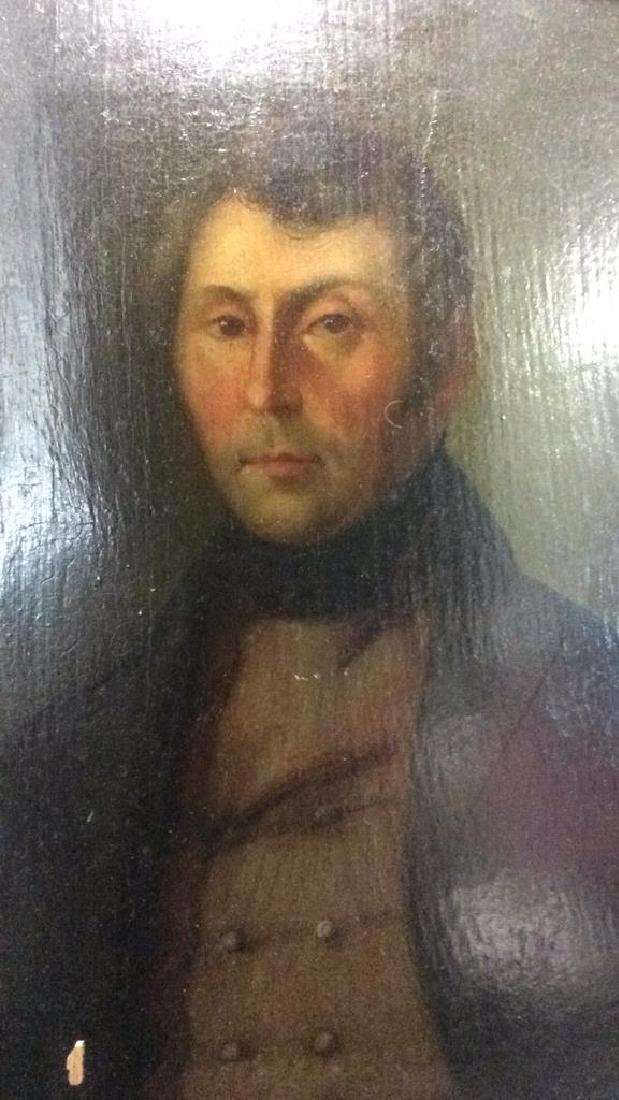 Early 19th Century Oil On Board Of Gentleman - 4