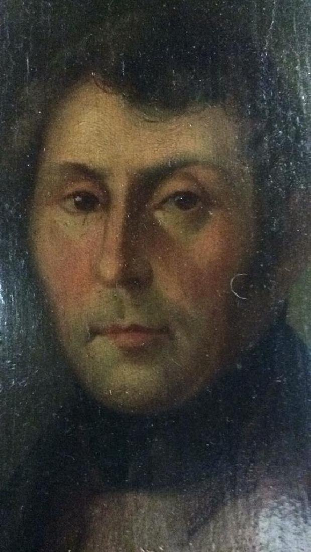 Early 19th Century Oil On Board Of Gentleman - 5