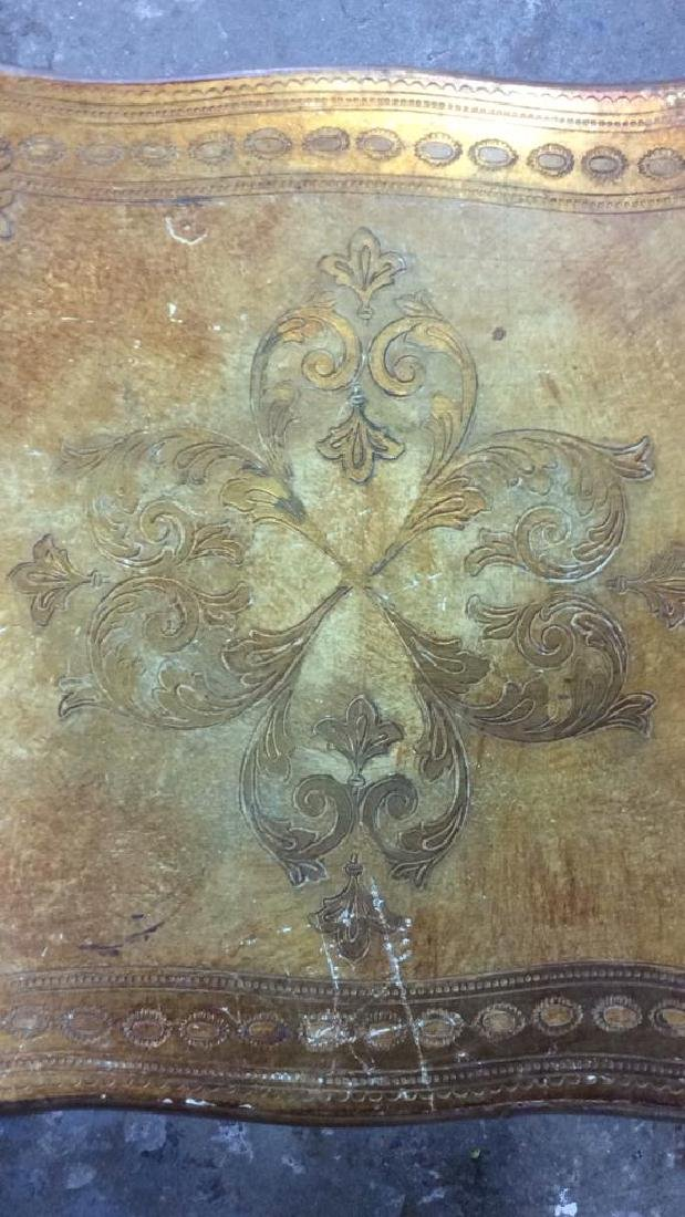 Lot 3 Italian Vintage Ornate Wooden Nesting Tables - 10