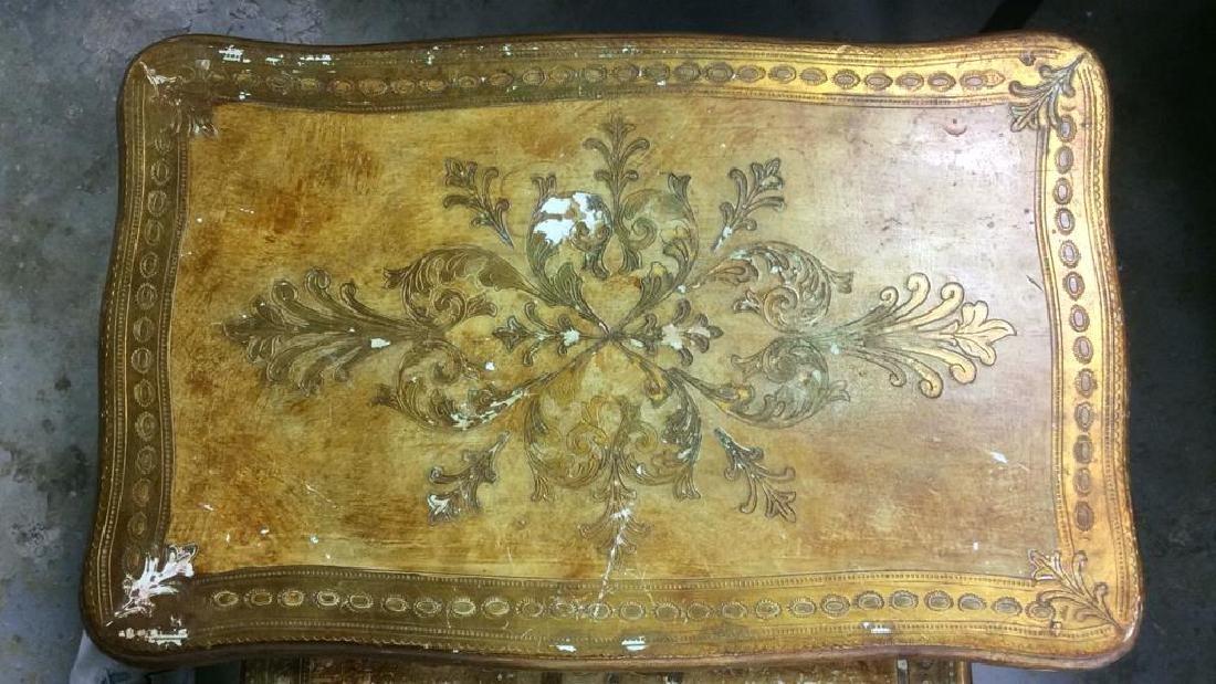 Lot 3 Italian Vintage Ornate Wooden Nesting Tables - 5