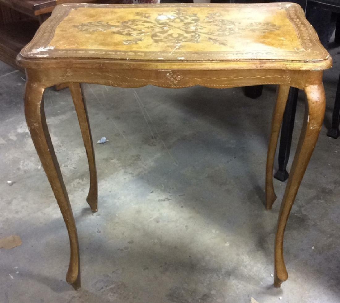 Lot 3 Italian Vintage Ornate Wooden Nesting Tables - 6