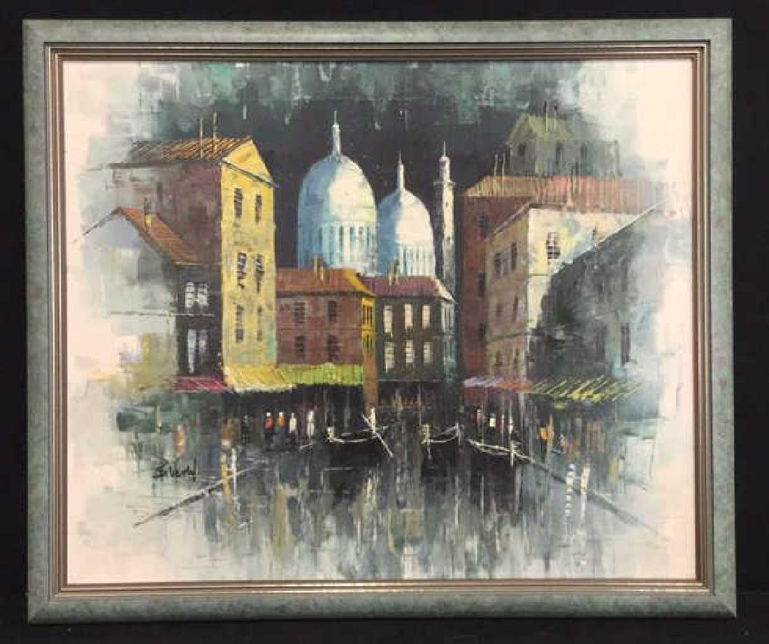 B. VENTIL Signed Mid Century Oil Painting