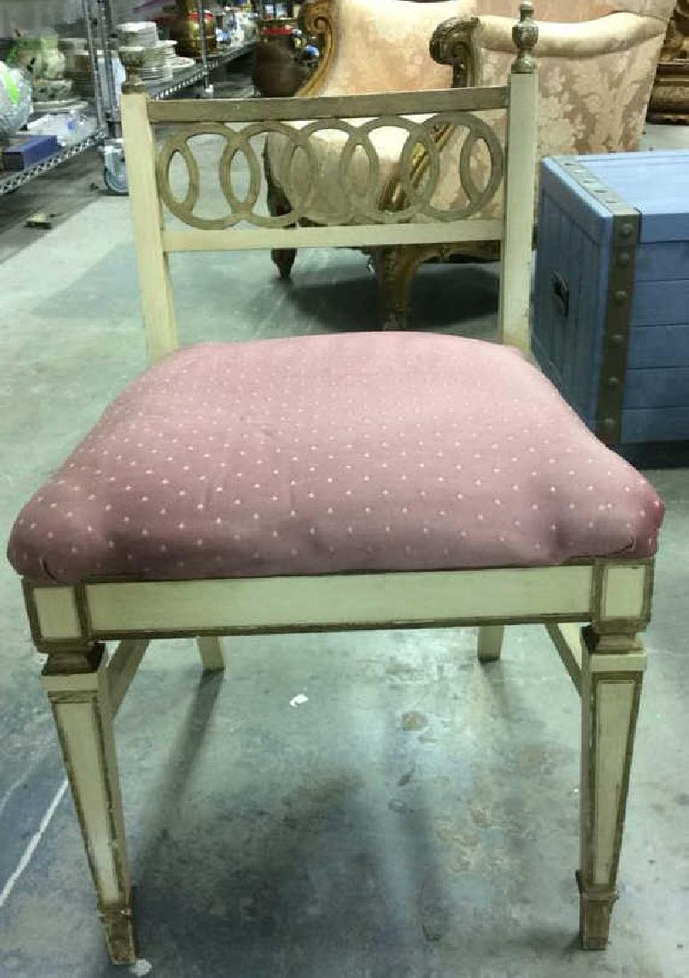 Vintage Cushioned Wooden Side Chair - 2