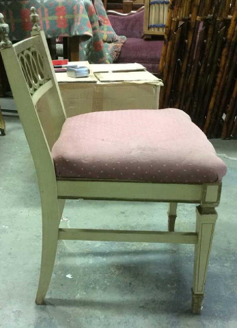 Vintage Cushioned Wooden Side Chair - 4