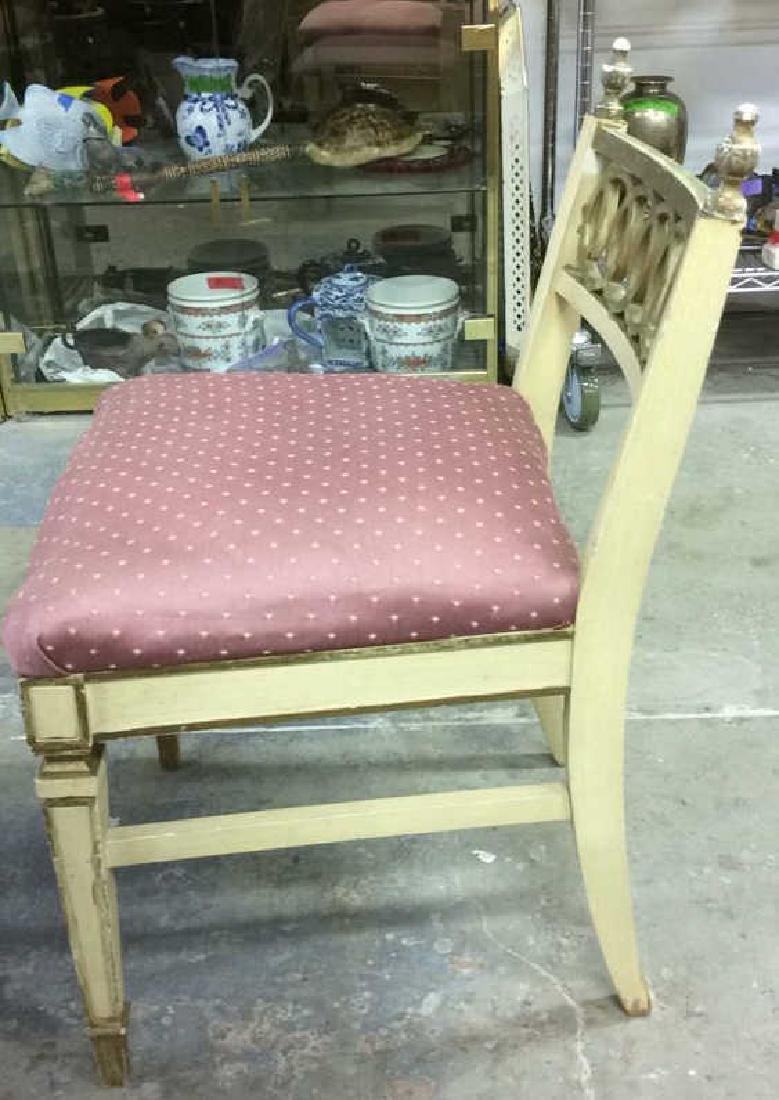 Vintage Cushioned Wooden Side Chair - 5