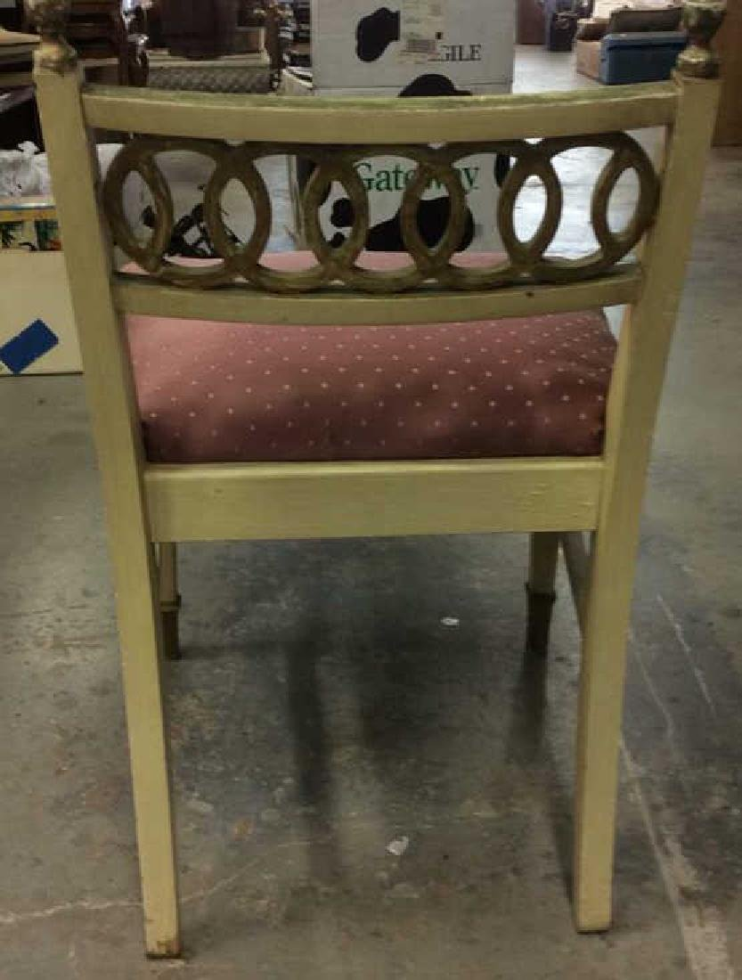 Vintage Cushioned Wooden Side Chair - 6