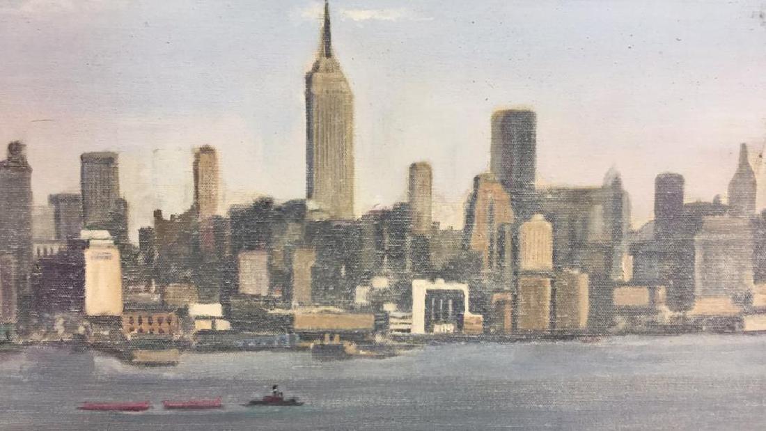 Smith, New York City Skyline Oil on Canvas, 1973