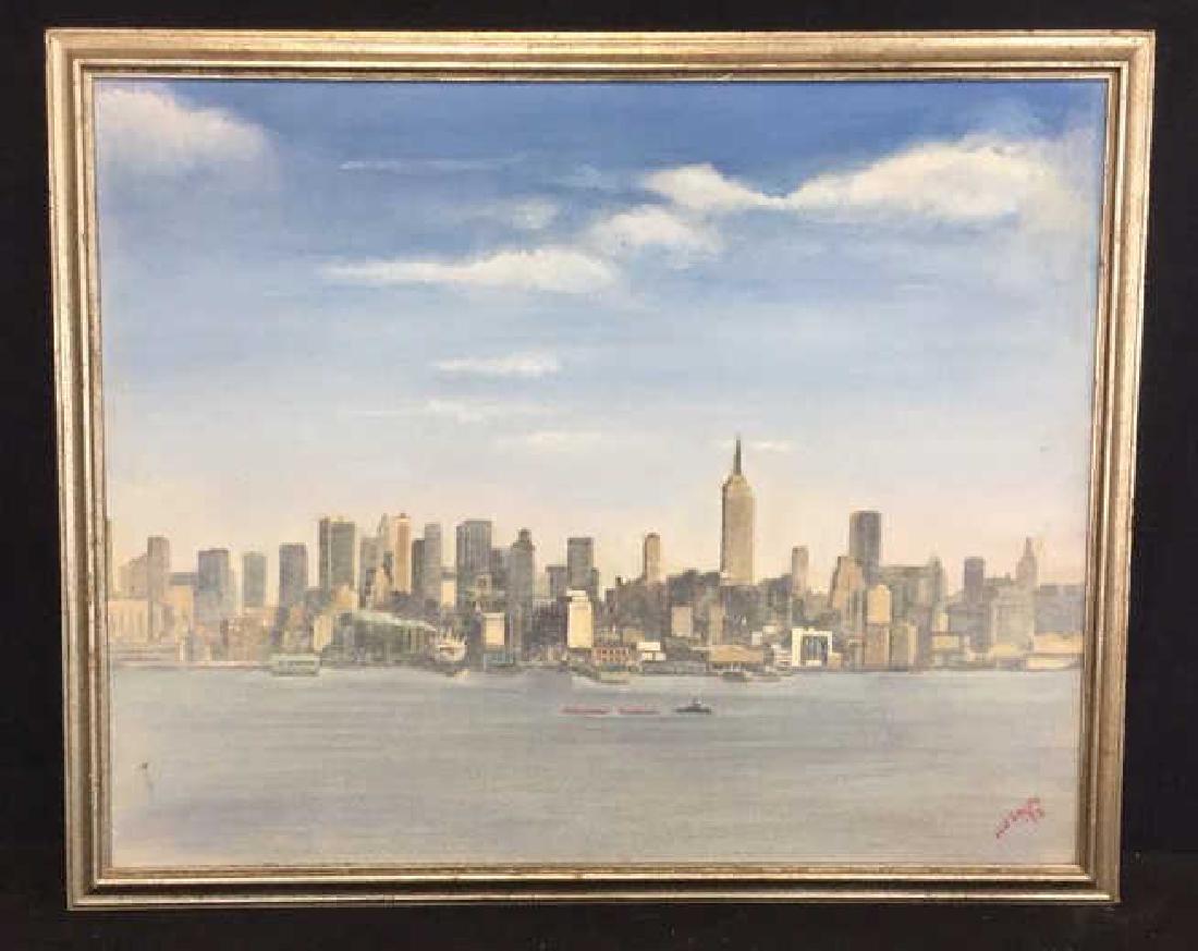 Smith, New York City Skyline Oil on Canvas, 1973 - 2